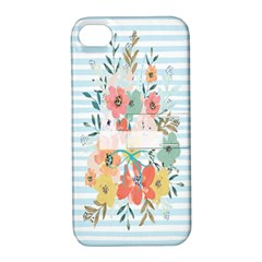 Watercolor Bouquet Floral White Apple Iphone 4/4s Hardshell Case With Stand