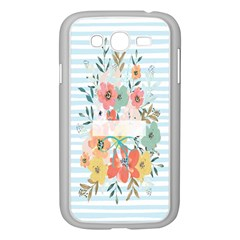 Watercolor Bouquet Floral White Samsung Galaxy Grand Duos I9082 Case (white)