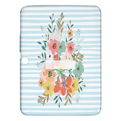 Watercolor Bouquet Floral White Samsung Galaxy Tab 3 (10 1 ) P5200 Hardshell Case