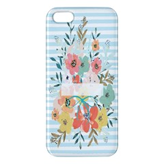 Watercolor Bouquet Floral White Iphone 5s/ Se Premium Hardshell Case