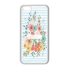 Watercolor Bouquet Floral White Apple Iphone 5c Seamless Case (white)