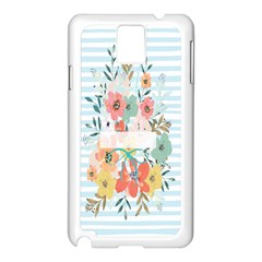 Watercolor Bouquet Floral White Samsung Galaxy Note 3 N9005 Case (white)