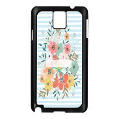 Watercolor Bouquet Floral White Samsung Galaxy Note 3 N9005 Case (black)
