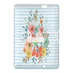 Watercolor Bouquet Floral White Kindle Fire Hdx 8 9  Hardshell Case