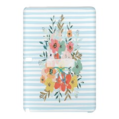 Watercolor Bouquet Floral White Samsung Galaxy Tab Pro 10 1 Hardshell Case