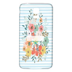 Watercolor Bouquet Floral White Samsung Galaxy S5 Back Case (white)