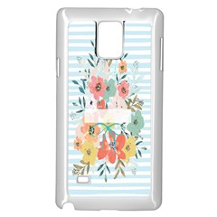 Watercolor Bouquet Floral White Samsung Galaxy Note 4 Case (white)