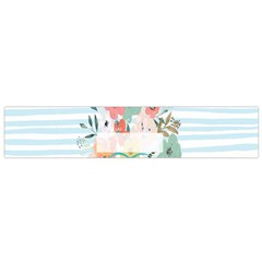 Watercolor Bouquet Floral White Flano Scarf (small)
