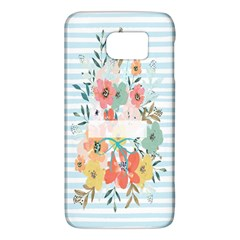 Watercolor Bouquet Floral White Galaxy S6
