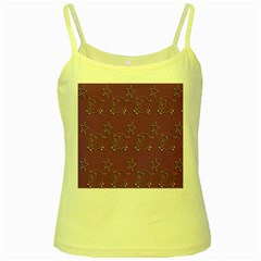 Pig Star Pattern Wallpaper Vector Yellow Spaghetti Tank