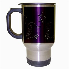 Pig Star Pattern Wallpaper Vector Travel Mug (silver Gray)