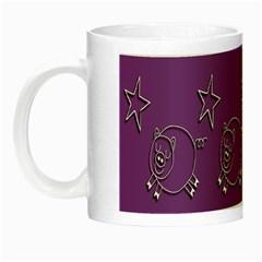 Pig Star Pattern Wallpaper Vector Night Luminous Mugs