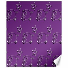 Pig Star Pattern Wallpaper Vector Canvas 8  X 10