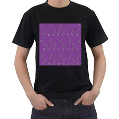 Pig Star Pattern Wallpaper Vector Men s T Shirt (black)