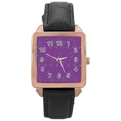Pig Star Pattern Wallpaper Vector Rose Gold Leather Watch