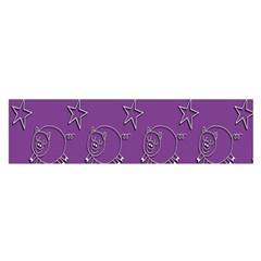 Pig Star Pattern Wallpaper Vector Satin Scarf (oblong)