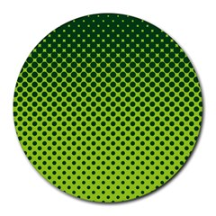 Halftone Circle Background Dot Round Mousepads