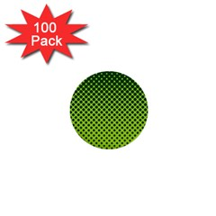 Halftone Circle Background Dot 1  Mini Buttons (100 Pack)