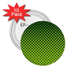 Halftone Circle Background Dot 2 25  Buttons (10 Pack)