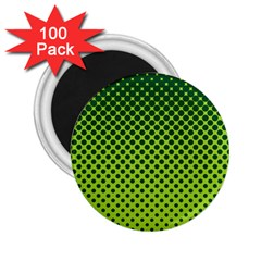 Halftone Circle Background Dot 2 25  Magnets (100 Pack)