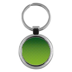 Halftone Circle Background Dot Key Chains (round)