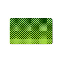 Halftone Circle Background Dot Magnet (name Card)