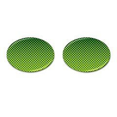 Halftone Circle Background Dot Cufflinks (oval)