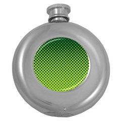 Halftone Circle Background Dot Round Hip Flask (5 Oz)