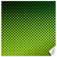 Halftone Circle Background Dot Canvas 12  X 12