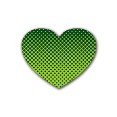 Halftone Circle Background Dot Heart Coaster (4 Pack)