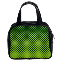 Halftone Circle Background Dot Classic Handbags (2 Sides)