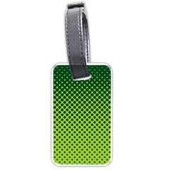Halftone Circle Background Dot Luggage Tags (one Side)