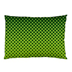 Halftone Circle Background Dot Pillow Case (two Sides)