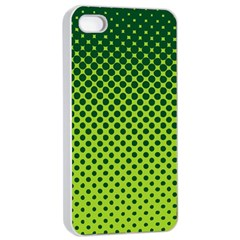 Halftone Circle Background Dot Apple Iphone 4/4s Seamless Case (white)