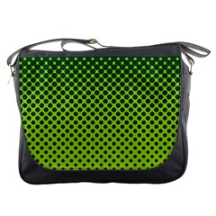 Halftone Circle Background Dot Messenger Bags