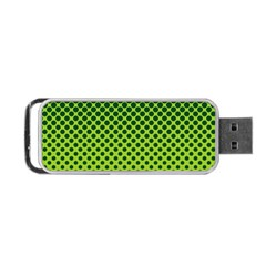 Halftone Circle Background Dot Portable Usb Flash (two Sides)
