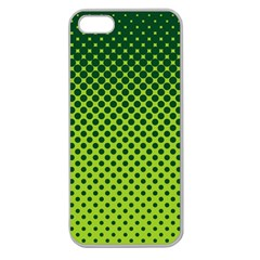 Halftone Circle Background Dot Apple Seamless Iphone 5 Case (clear)