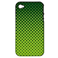 Halftone Circle Background Dot Apple Iphone 4/4s Hardshell Case (pc+silicone)