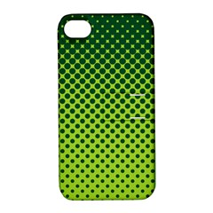 Halftone Circle Background Dot Apple Iphone 4/4s Hardshell Case With Stand