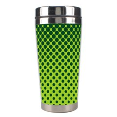 Halftone Circle Background Dot Stainless Steel Travel Tumblers