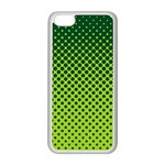 Halftone Circle Background Dot Apple iPhone 5C Seamless Case (White) Front