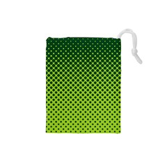 Halftone Circle Background Dot Drawstring Pouches (small)