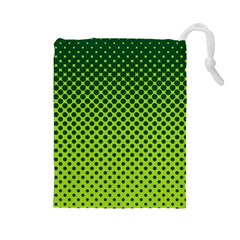 Halftone Circle Background Dot Drawstring Pouches (large)