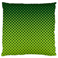 Halftone Circle Background Dot Standard Flano Cushion Case (one Side)
