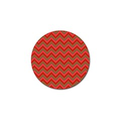 Background Retro Red Zigzag Golf Ball Marker (10 Pack)