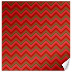 Background Retro Red Zigzag Canvas 12  X 12