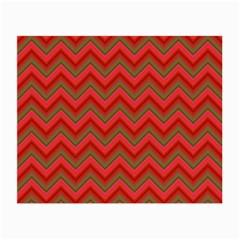 Background Retro Red Zigzag Small Glasses Cloth (2 Side)
