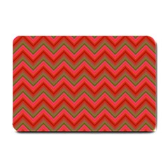 Background Retro Red Zigzag Small Doormat