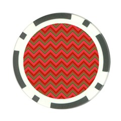 Background Retro Red Zigzag Poker Chip Card Guard