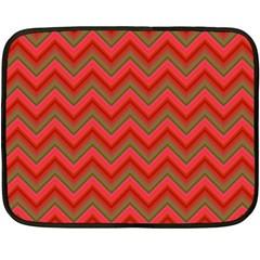 Background Retro Red Zigzag Fleece Blanket (mini)